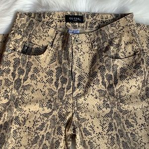 Guess snake print jeans